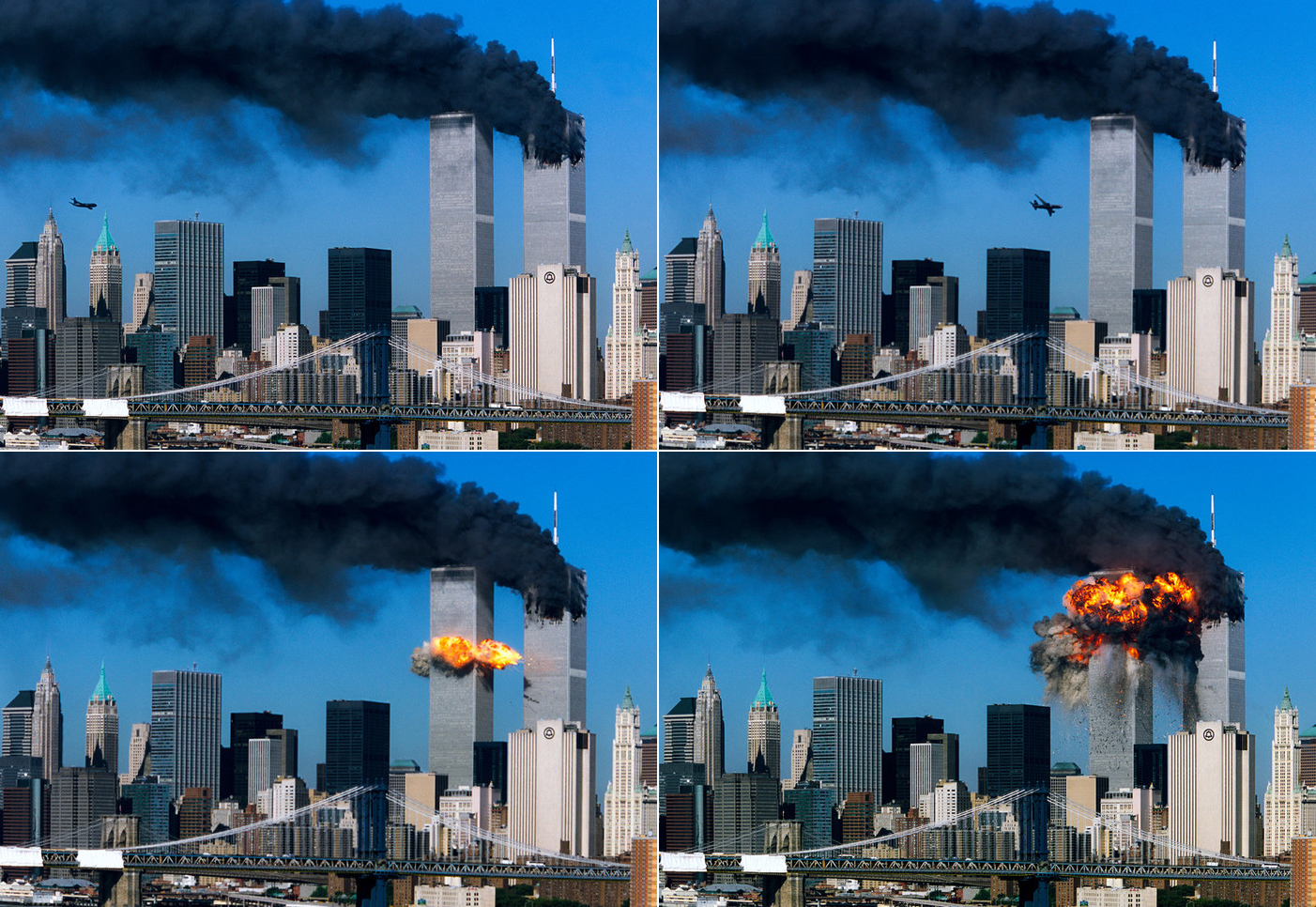 Second in a series of four. The second plane crashes into the World Trade Center.